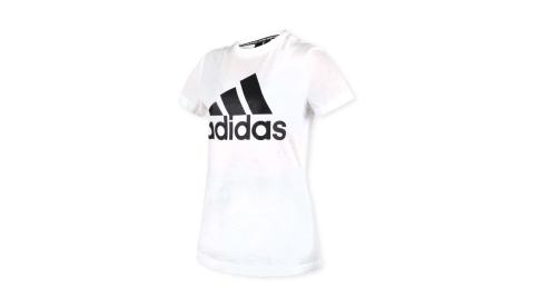 ADIDAS 女短袖T恤-短T 慢跑 路跑 愛迪達 白黑@DZ0013@