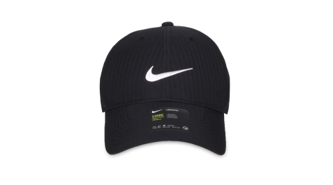 NIKE GOLF 高爾夫運動帽-防曬 遮陽 帽子 鴨舌帽 黑白@BV1076-010@