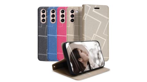 GENTEN for 三星 Samsung Galaxy S21+ 極簡立方磁力手機皮套