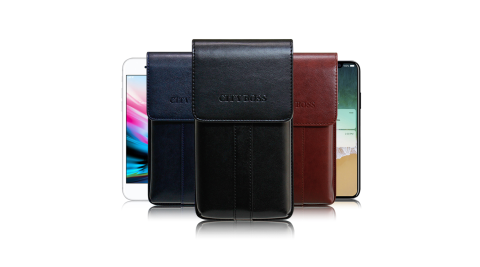 CB iPhone 8 Plus /  iPhone X 帥氣直立手機腰包皮套