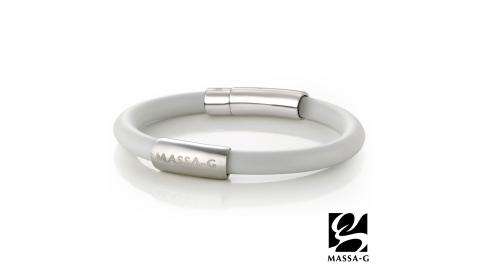 MASSA-G H-FEVER全彩6mm鍺鈦手環-雅典白
