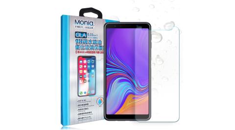 MONIA 三星 Samsung Galaxy A7 (2018) 日本頂級疏水疏油9H鋼化玻璃膜 玻璃保護貼(非滿版)