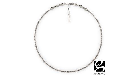 MASSA-G【Hermes】荷米斯之鍊金屬鍺錠白鋼項鍊(6顆金屬鍺)