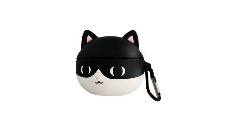 AirPods Pro 賓士貓造型矽膠保護套 附掛鉤【贈】金屬防塵貼