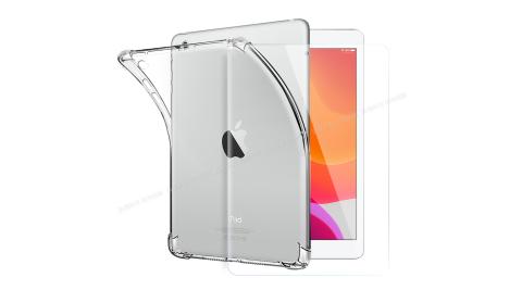 CITY for iPad 10.2吋 2019 平板5D 4角軍規防摔殼+鋼化玻璃貼組合