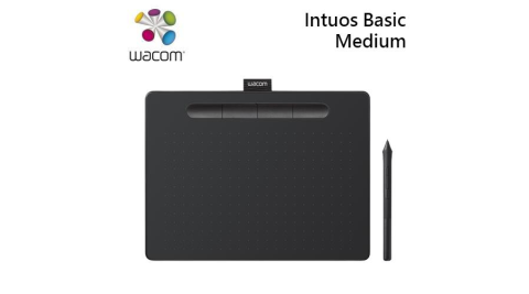 Wacom Intuos Basic Medium 繪圖板 入門版 黑-CTL-6100/K1-C