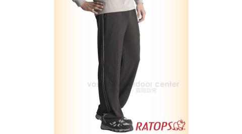 【瑞多仕-RATOPS】中性竹碳吸排保暖休閒運動褲(出芽爬線) /DB5775濃巧克力/卡其色