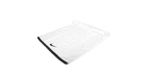 NIKE 運動大浴巾-60*120CM 純棉 慢跑 路跑 海邊 游泳 戲水 毛巾 白灰黑@N1001522101LG@