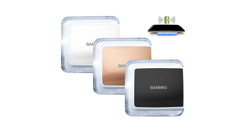 LED藍光小方塊 BANNKO無線充電座 Qi無線充電板 附充電線