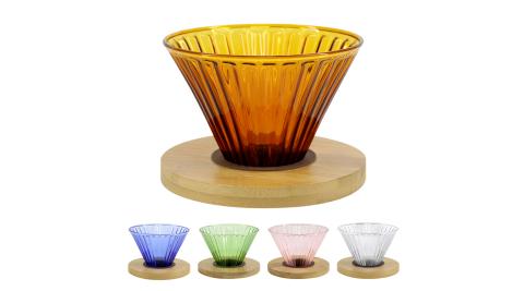 CoFeel 嚴選濾杯手沖咖啡濾杯玻璃濾杯~多色隨機出貨