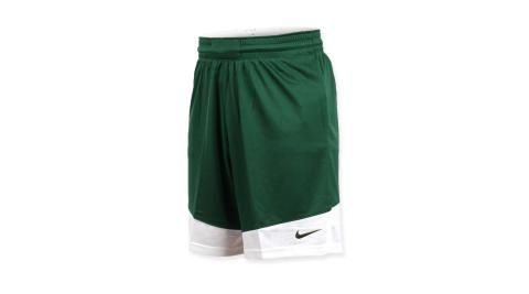 NIKE 男籃球針織短褲-路跑 慢跑 訓練 五分褲 綠白@867769342@