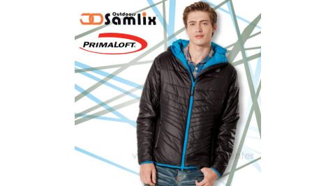 【山力士 SAMLIX】男Primaloft 輕量保暖外套.休閒外套.防風.防潑水(非羽絨外套)100%聚酯纖維/黑 66813