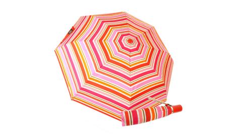 COACH 彩色條紋自動開啟晴雨傘(紅)