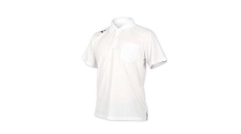 MIZUNO 男短袖POLO衫-短袖上衣 高爾夫 網球 美津濃 白黑@32TA002001@