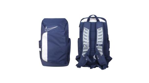 NIKE 大型氣墊後背包-ELITE 雙肩包 筆電包 籃球 丈青白@BA6164-410@