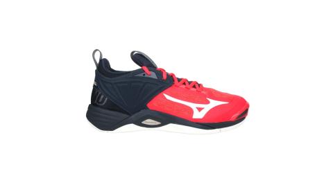 MIZUNO WAVE MOMENTUM 2 男排球鞋-訓練 美津濃 橘紅黑白@V1GA211263@