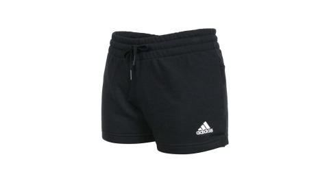ADIDAS 女運動短褲-亞規 針織 慢跑 路跑 三分褲 愛迪達 黑白@GM5601@