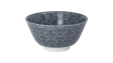 《Tokyo Design》瓷製餐碗(扇點黑12cm)