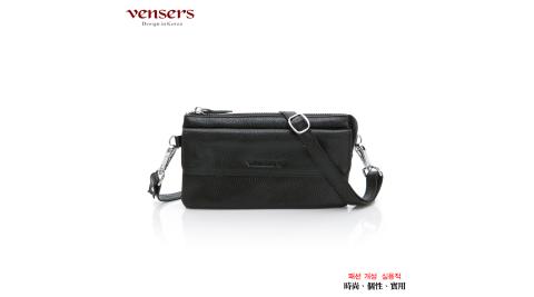 【vensers】小牛皮潮流手拿包(ND6800201黑色)