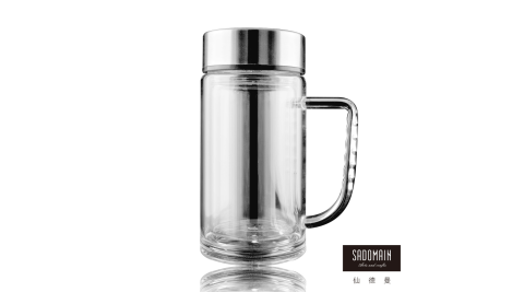 【仙德曼 SADOMAIN】雙層玻璃辦公杯360ml