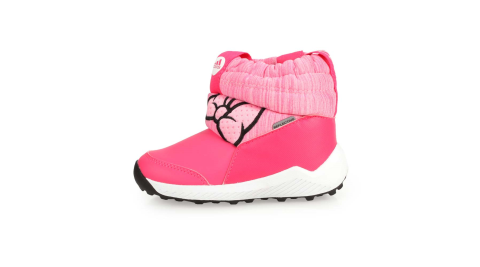 ADIDAS RAPIDASNOW MINNIE I女小童保暖短筒靴-童鞋 愛迪達 桃紅粉黑@G27543@