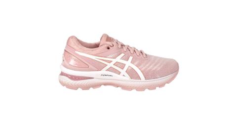ASICS GEL-NIMBUS 22 女慢跑鞋-路跑 避震 緩震 亞瑟膠 珊瑚粉白@1012A586-703@