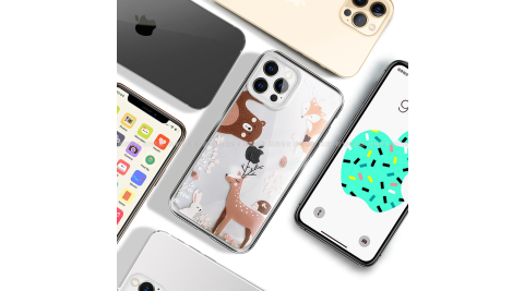 MOOTUN for iPhone 12 / 12 Pro 6.1 防護晶透保護殼 -森林小夥伴