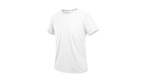 HODARLA ZERO DRY男機能排汗棉短袖T恤-台灣製 抗UV 反光 上衣 慢跑 白@3158401@