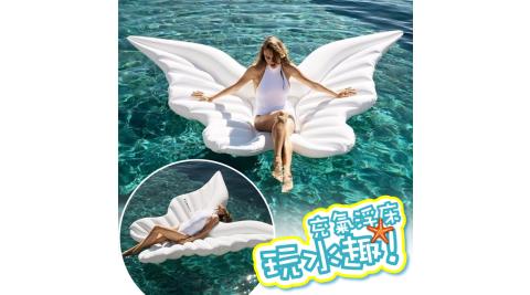 天使之翼 蝴蝶翅膀 水上充氣浮床 充氣浮排 水上漂浮氣墊 泳圈