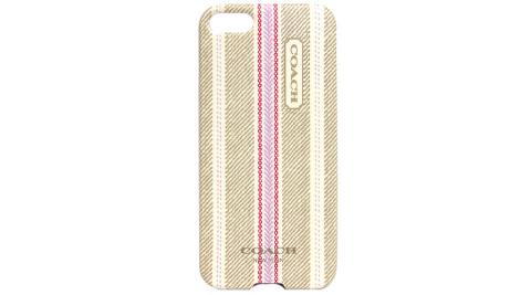 COACH 民俗圖騰iPhone5手機保護殼(米)