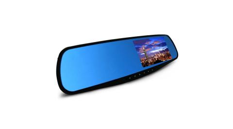 高畫質 FHD 1080P 後視鏡 行車紀錄器 防眩光藍鏡後照鏡 行車記錄器  贈8GC10記憶卡