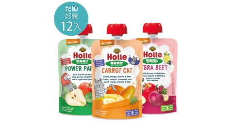【大地之愛Holle】生機蔬果纖暢組-100g/包(生機水果蔬菜果泥)
