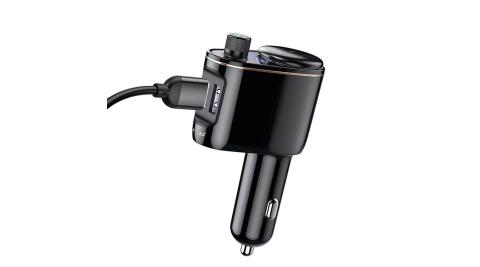 Baseus 車用藍芽 MP3撥放 雙USB車充/FM調頻