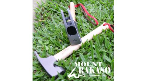 【MOUNT RAKASO】F3B超強鍛造營槌 黑銀 霧灰/ 營釘槌 露營營槌 拔釘槌/ 61HMF3B/槌頭採S55C熱鍛造成型