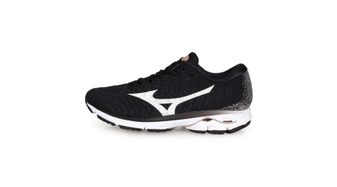MIZUNO WIDE RIDER WAVEKNIT 3 女慢跑鞋-美津濃 黑白灰@J1GD192908@