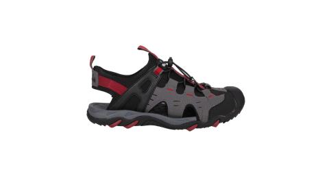 DIADORA 男護趾運動涼鞋-健走鞋 水陸鞋 懶人鞋 灰黑紅@DA71201@