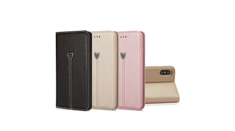 XUNDD iPhone Xs / X 5.8吋 奢華皮革支架磁力皮套