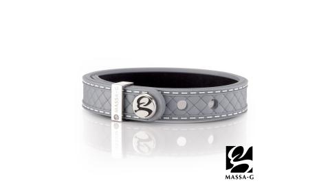 MASSA-G X DECO ONLY U唯你鍺鈦手環-品牌菱格紋(銀)