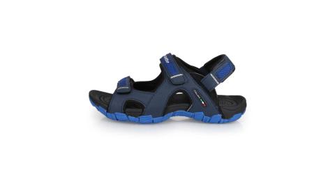 LOTTO 男戶外運動涼鞋-海邊 戲水 拖鞋 健走鞋 丈青藍@LT0AMS1666@