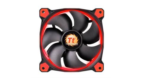 Thermaltake曜越 Riing 12公分 LED高風壓水冷排風扇 (紅)