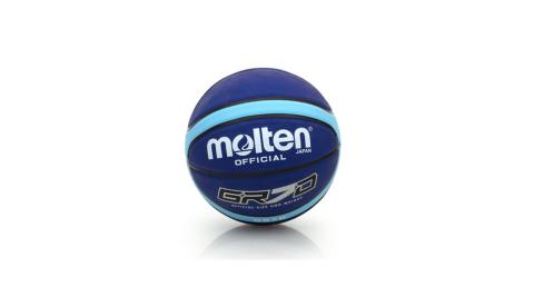 MOLTEN Molten 12片橡膠深溝籃球 任選賣場 深藍水藍@BGR7D-LBB@