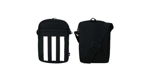 ADIDAS 小型裝備袋-肩背包 斜背包 隨身包 愛迪達 黑白@GN1928@