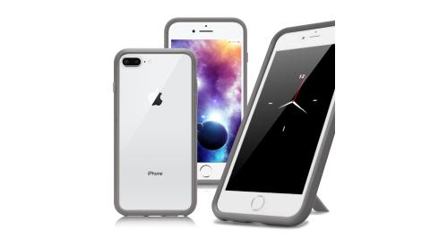 Thunder X iPhone 8 Plus / 7 Plus 防摔邊框手機殼-灰