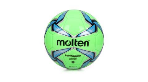 MOLTEN #5合成皮足球-訓練 螢光綠藍@F5V2000-GB@