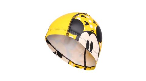 SPEEDO 兒童合成泳帽PACE-米奇-游泳 戲水 海邊 沙灘 黃黑@SD8113077123@