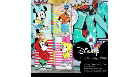 迪士尼授權正版iPhone6/ 6S Plus i6S+ (5.5吋) 街頭系列透明軟式手機殼