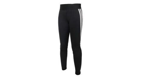 ADIDAS 女緊身長褲-吸濕排汗 亞規 瑜珈 慢跑 運動 有氧 健身 愛迪達 黑白@FJ7173@