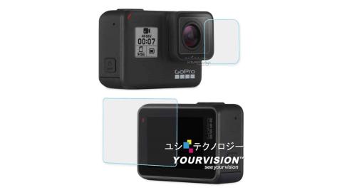 GoPro HERO7 相機鏡頭+觸控螢幕 鋼化玻璃膜 螢幕貼
