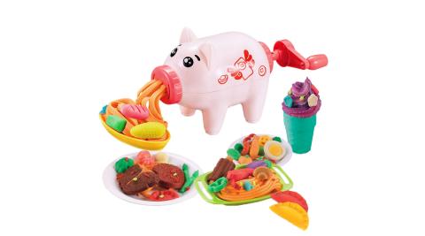 【孩子國】卡通豬黏土麵條機 /包餃子模型益智玩具