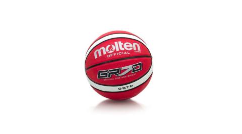MOLTEN 籃球-9色-7號球 附球針 紅白@BGR7D-RW@
